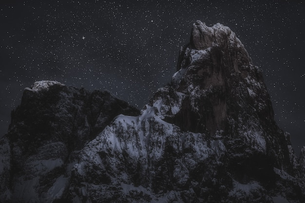 夜間の山頂 無料写真