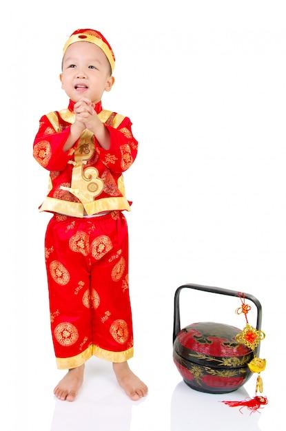 アジア人の少年 Premium写真