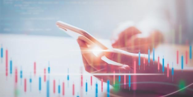 証券取引所市場の概念 Premium写真