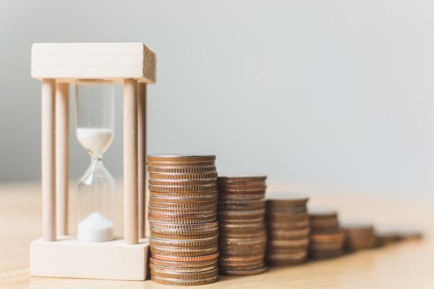 Сумка для монет с песочными часами Premium Фотографии