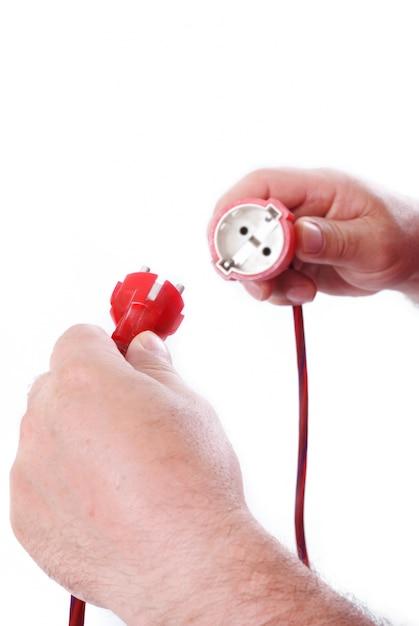 男性の手の電気 Premium写真