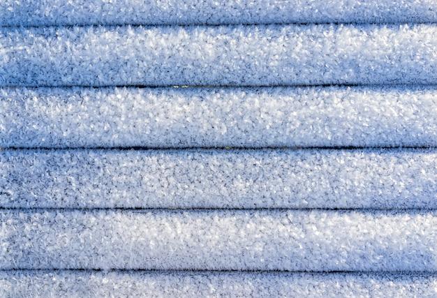 寒い冬のバックグラウンドで雪のデザインライン Premium写真