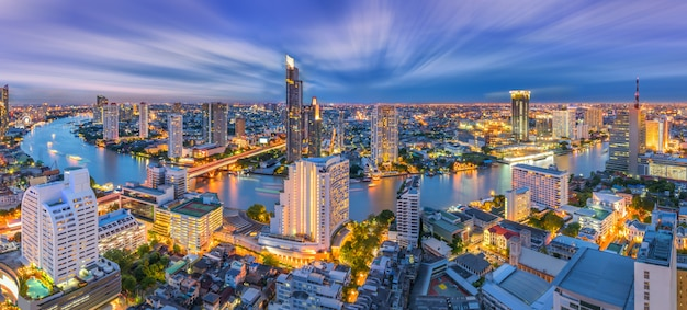 Бангкок городской пейзаж таиланд Premium Фотографии