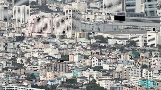 Вид с воздуха зданий в бангкоке Premium Фотографии