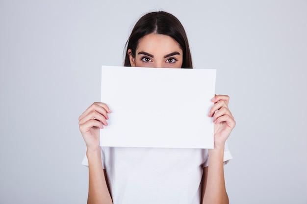 若い、女の子、隠れること、テンプレート 無料写真
