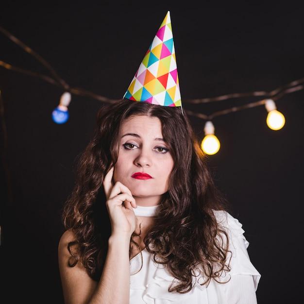 パーティーで孤独な女の子 無料写真