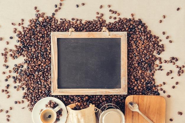 Декоративная концепция кофе со сланцем Бесплатные Фотографии