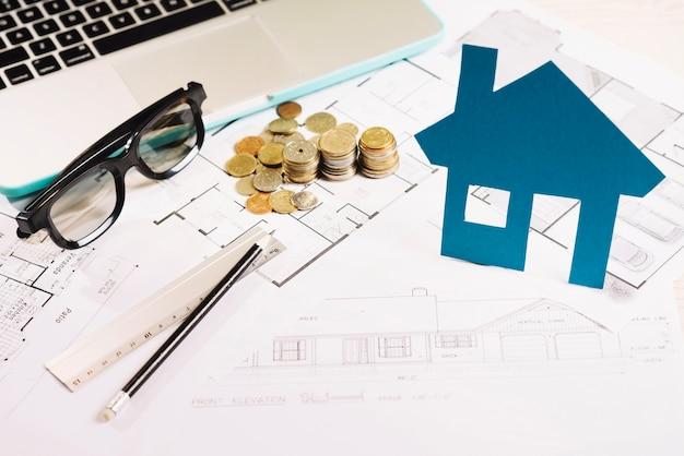 家とコインの計画 無料写真