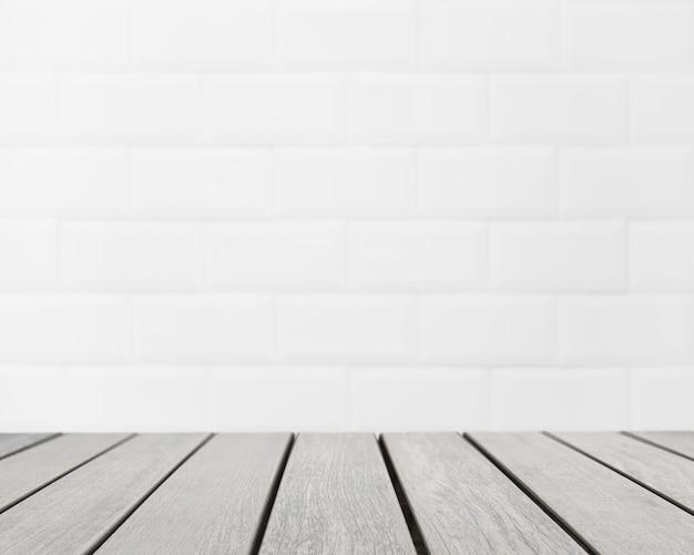 白い煉瓦の壁がぼやけて見える表の表面 無料写真