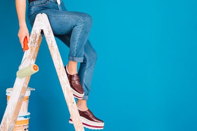 女性の足の絵画シーン 無料写真