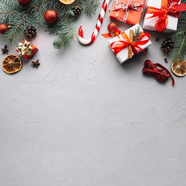 クリスマスの背景にはスペースがある 無料写真