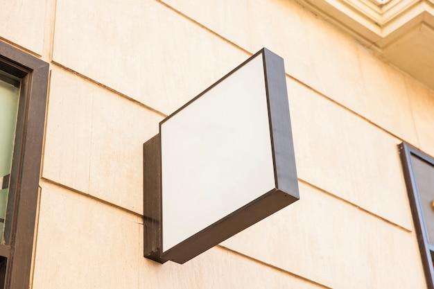 Квадратный знак белого магазина Бесплатные Фотографии
