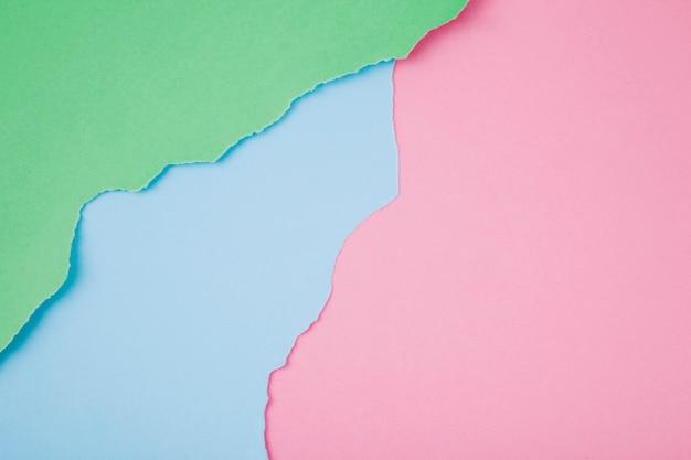 Массив красочных разорванных бумаг Бесплатные Фотографии