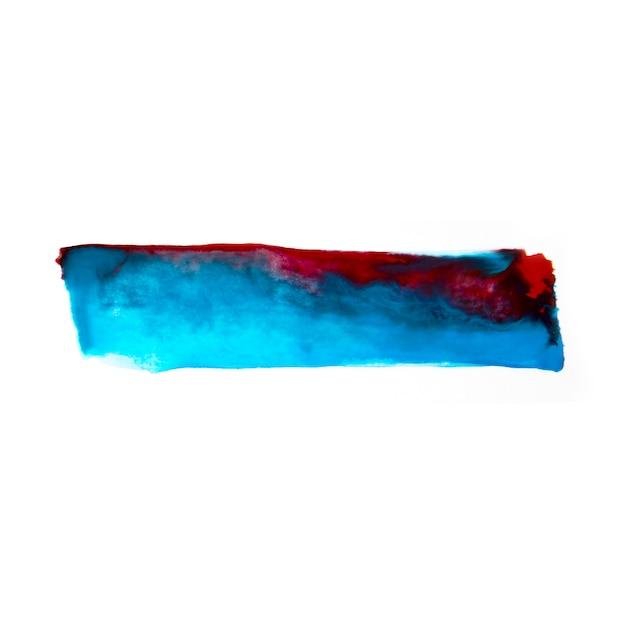 塗料で青と赤のライン 無料写真