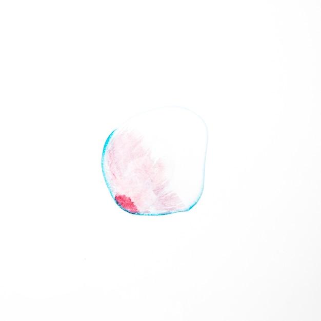 青い線に赤い塗料 無料写真