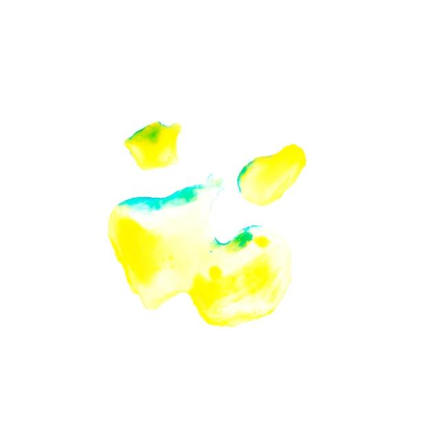 黄色と青の塗装ブロット 無料写真