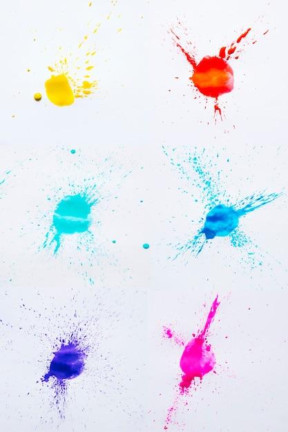 水彩の着色された汚れ 無料写真