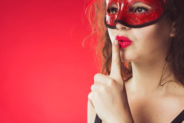 女の子、身に着けていること、マスク 無料写真