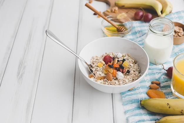 朝食のおいしい料理 無料写真