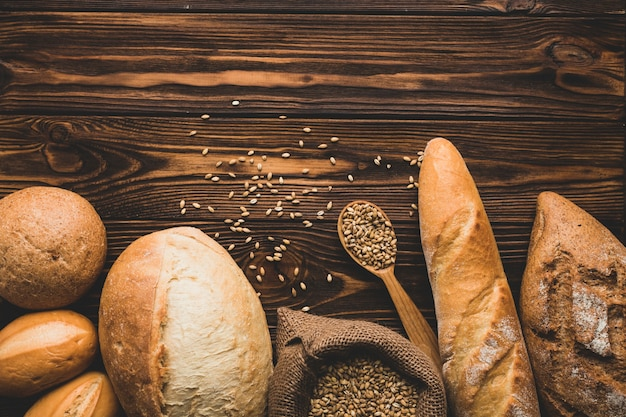 木のパンの塊 無料写真