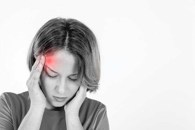 片頭痛のある女性 無料写真