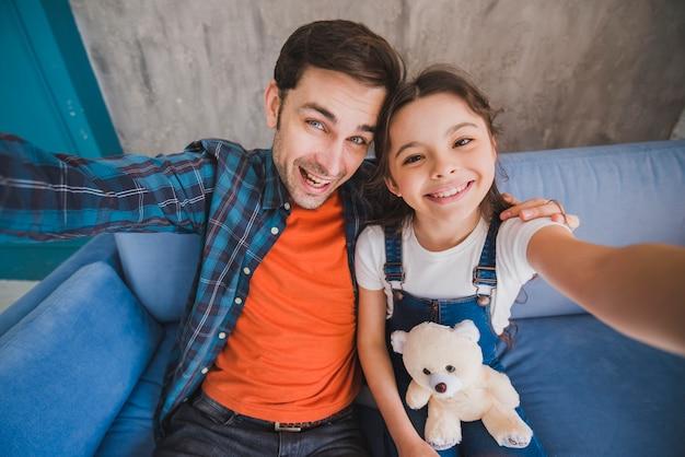 Идея отца с отцом и дочерью Бесплатные Фотографии
