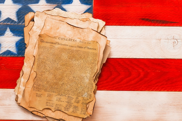 Форма дня независимости сша с декларацией Бесплатные Фотографии