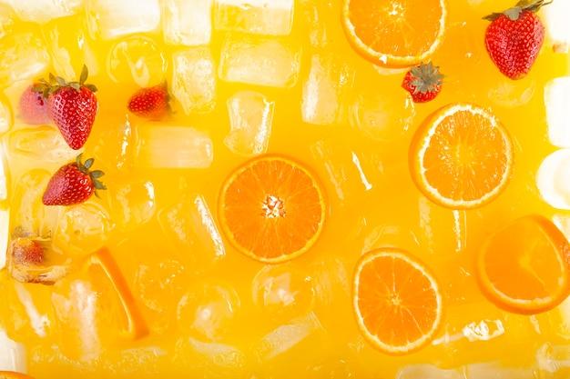 クローズアップおいしいフルーツ飲料 無料写真