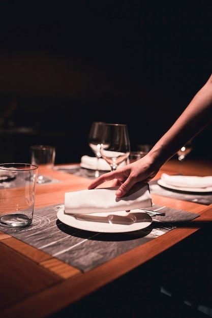 Салфетка для салфеток на тарелке Бесплатные Фотографии