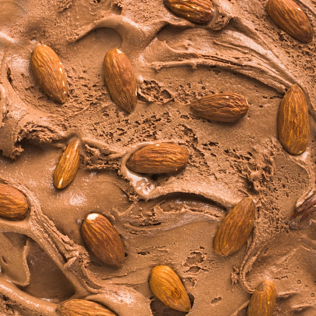 チョコレートアイスクリームの背景 無料写真