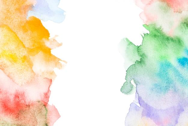カラフルな塊を持つ水彩画の背景 無料写真