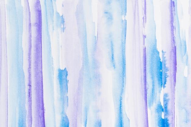 青と紫の塗装されたブラシストロークの背景 無料写真