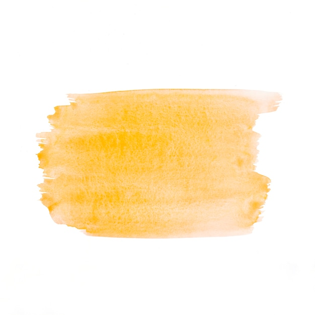 白い紙の上に描かれた黄色の水彩画 無料写真