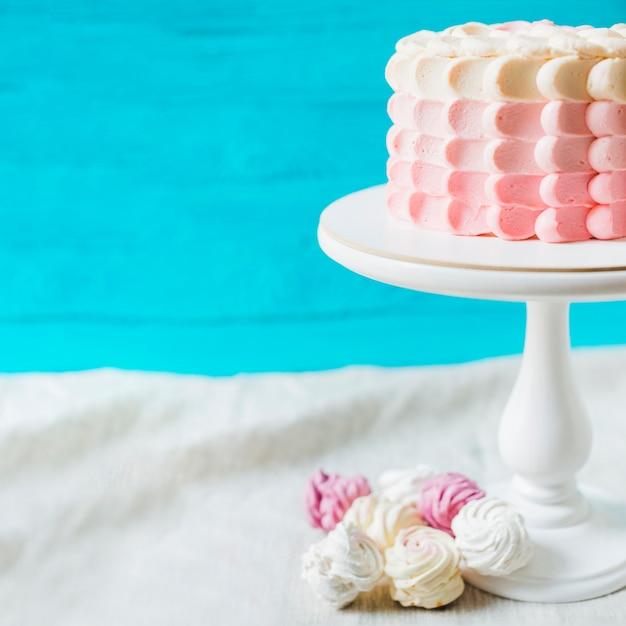 カクストンの誕生日ケーキのクローズアップ 無料写真