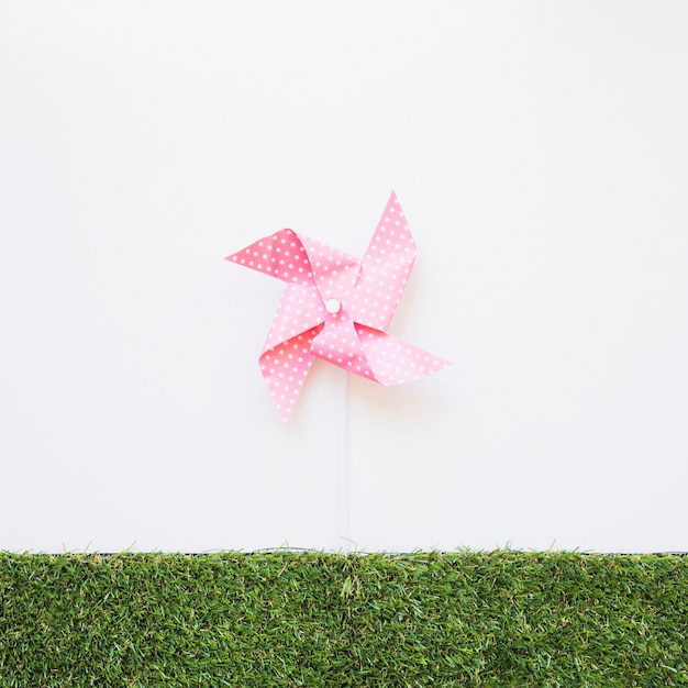 草の上に風を吹くおもちゃ 無料写真