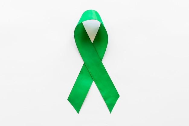 Всемирная лента лимфомы и умственного здоровья день лента на белом фоне Бесплатные Фотографии