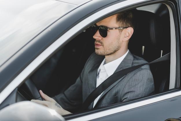 若い、ビジネスマン、運転手、車 無料写真