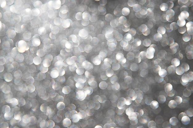 Абстрактный фон боке с серебряными огнями Бесплатные Фотографии
