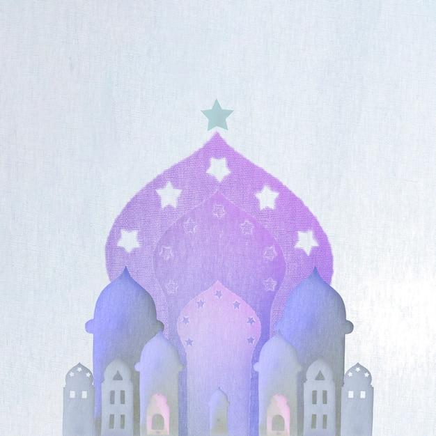 アラビア語の建物は紙切れになった 無料写真