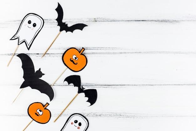 ハロウィンのための紙の装飾 無料写真