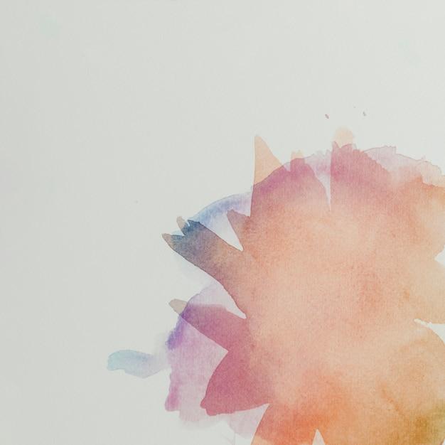 水彩ブラシストロークでカラフルな組成 無料写真