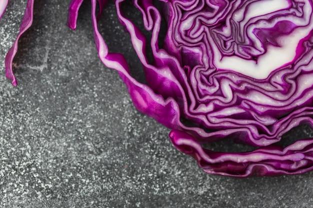 健全な紫色のキャベツの高い眺め 無料写真