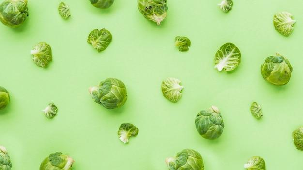 緑色の背景にブリュッセルの高さのビューの芽 無料写真