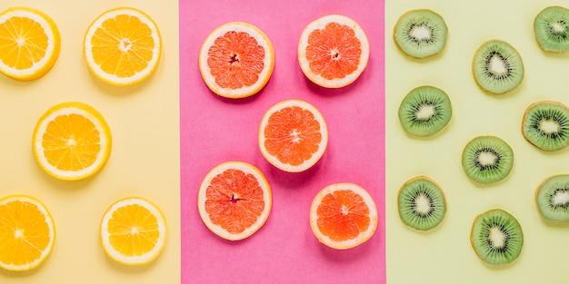 様々な果物のスライス 無料写真