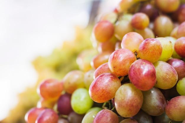 赤と緑のブドウのクローズアップ 無料写真