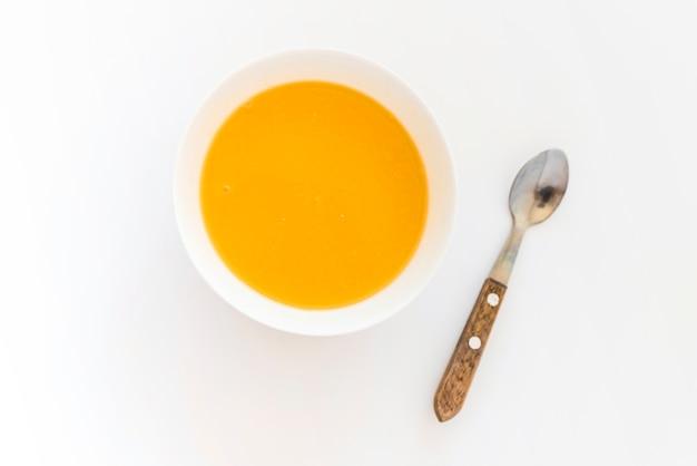 テーブル、カボチャ、スープ、ボウル 無料写真