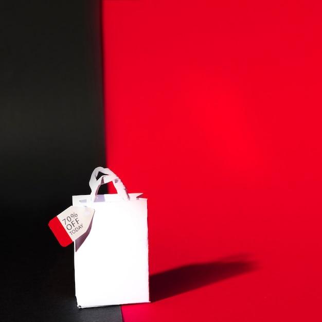 白いショッピングパケット 無料写真
