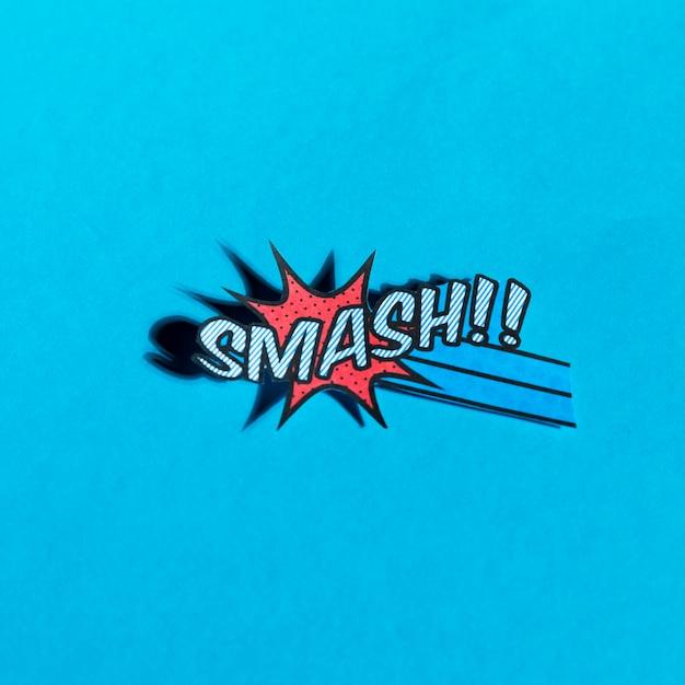 Плоский рисунок комиксов бум разбить вектор значок для веб на синем фоне Бесплатные Фотографии