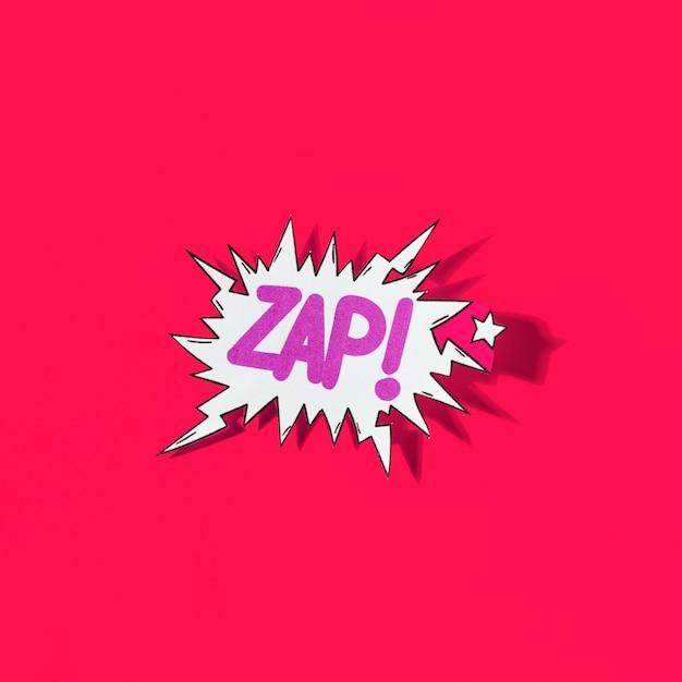 ザップ!赤い背景にポップアートの漫画の爆発 無料写真