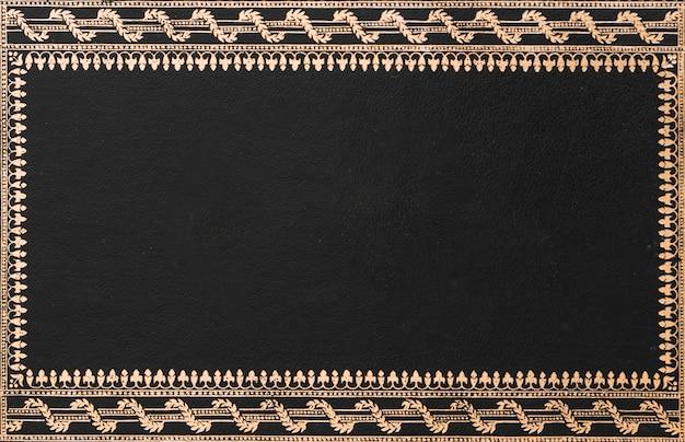 装飾的な黒いフレームのクローズアップ 無料写真